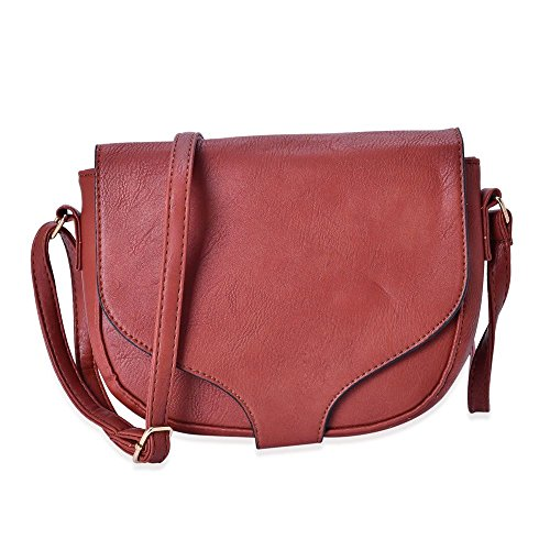 Strap Chocolate with Saddle Shoulder Crossbody Bag Adjustable Cm TJC 20x17x6 pZ7Yzqwwn