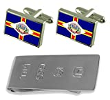 Guacui City Espirito Santo State Flag Cufflinks & James Bond Money Clip