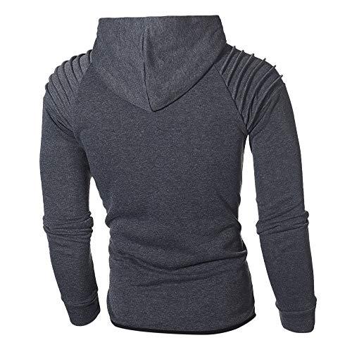 Plier Qualite Sweatshirt Survêtement Bonne Gris Épaule Combinaison Classique Sport Manteau Tendance Foncé Teddy Sanfashion Homme Vest Poche Top Zw47wq8x