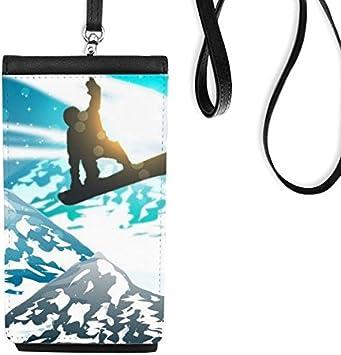 DIYthinker Deporte de Invierno de esquí y de montaña esquís Ejemplo de la Acuarela de Cuero de imitación Smartphone Colgando del Monedero de teléfono: Amazon.es: Electrónica