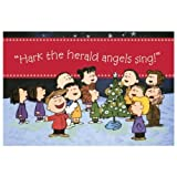 Hark the Herald Angels Sing (Peanuts) Christmas Cards - Box of 18 (Dayspring 5633-2)