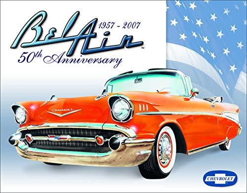 Desperate Enterprises Chevrolet Bel Air 50th Anniversary Tin Sign, 16