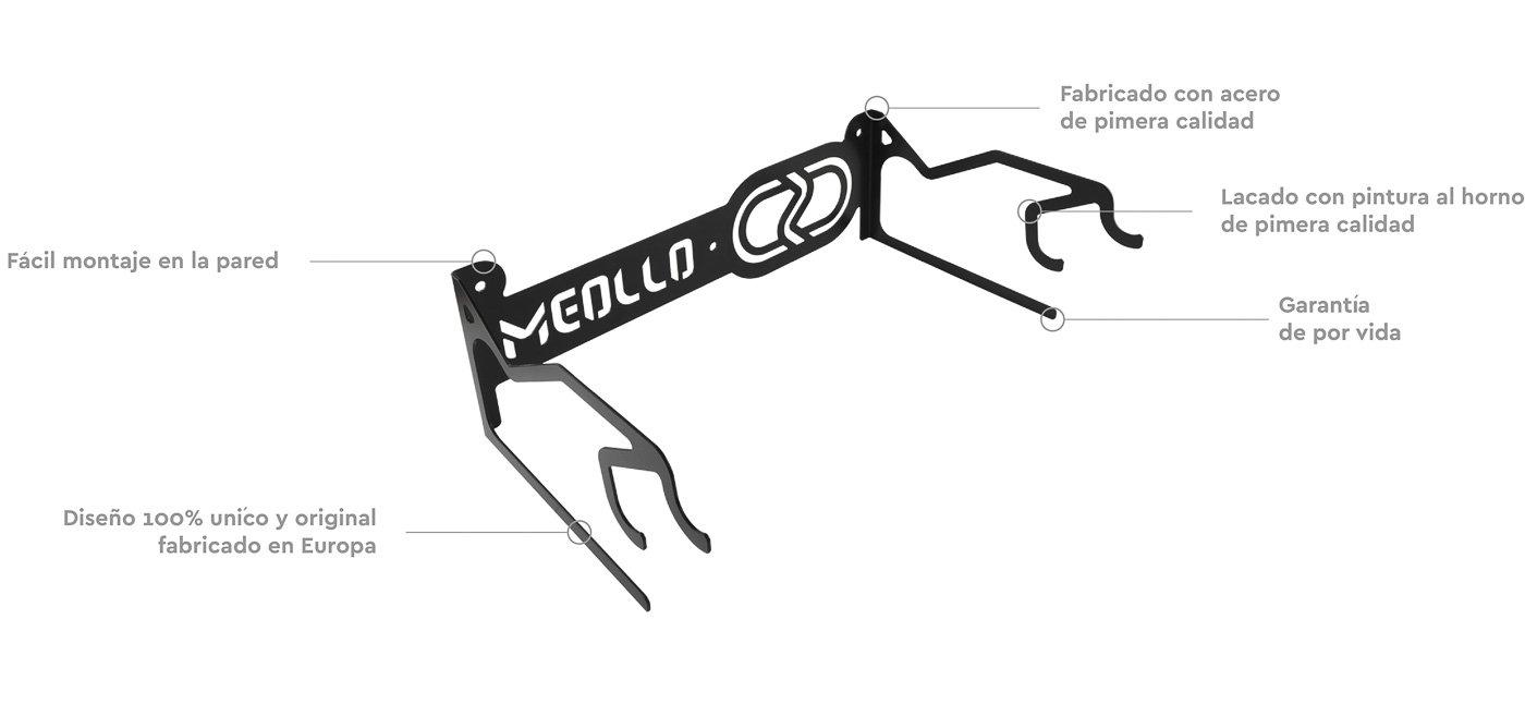 Black 100/% Steel Ski storage rack wall mount