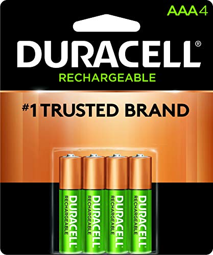 Duracell - Rechargeable AAA Batteries - long lasting, all-purpose Triple A battery for household and business - 4 count ()
