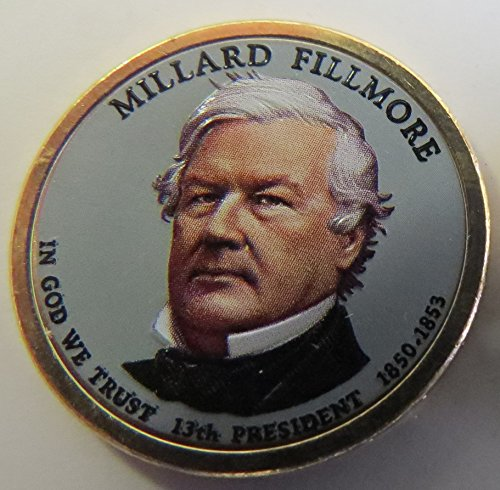 2010 Various Mint Marks Fillmore Presidential Colorized Dollar Choice Uncirculated