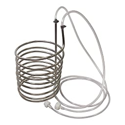 NY Brew Supply Stainless Steel Wort Chiller/Pre-Chiller, Silver