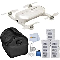 ZeroTech DOBBY Pocket Drone includes 2 Extra ZeroTech Flight Batteries + Medium Carrying Case + 5 Piece Cleaning Kit & Microfiber Cleaning Cloth