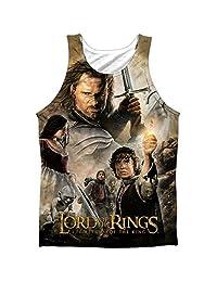 Lor King Poster Mens Sublimation Polyester Tank Top Shirt
