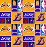 Cotton NBA Los Angeles Lakers Basketball Sports Team Print Cotton Fabric by the yard
