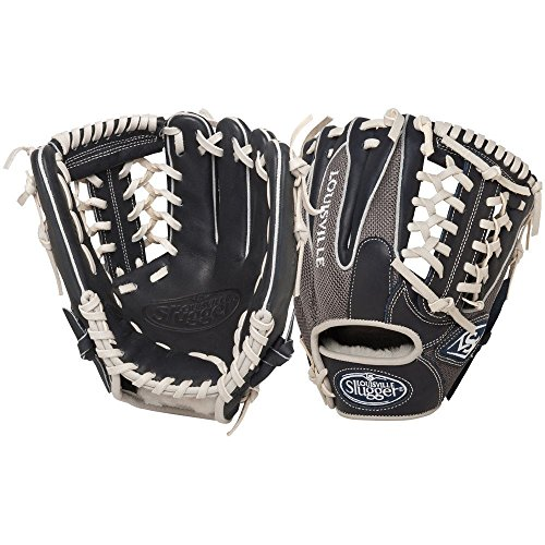 Louisville Slugger 11.5-Inch FG HD9 Baseball Infielders Gloves, Navy/Grey, Right Hand Throw