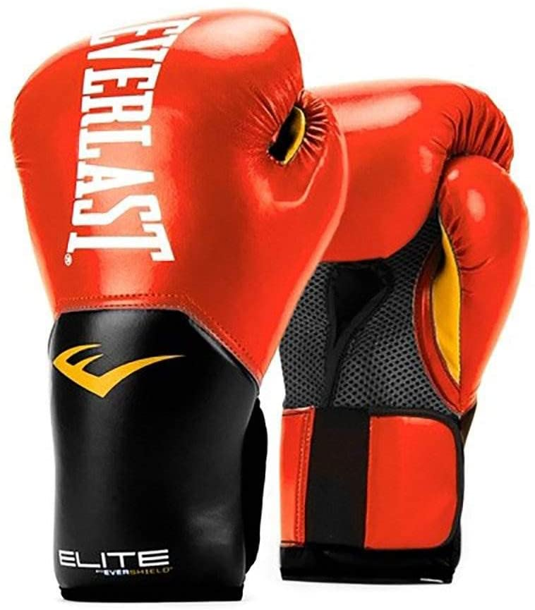 White Red and 120 Inch Hand Wraps Everlast Elite Pro Boxing Gloves Size 12