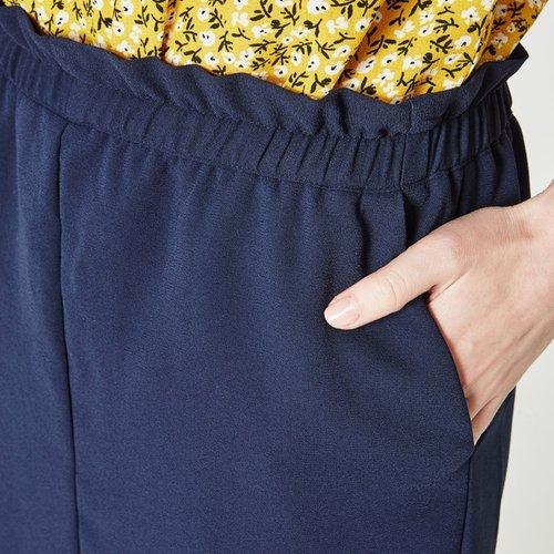 46b5aaff4a328e Promod Jupe Courte Femme Marine 38: Amazon.fr: Vêtements et accessoires