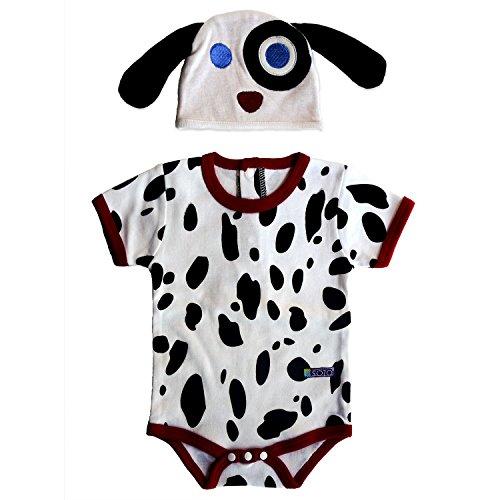Sozo Baby Dalmatian Bodysuit & Hat Set, Multi, 0-3 Months