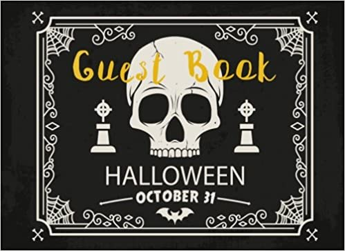 guest book halloween party seasonal parties event sign in lines for names messages memories or well