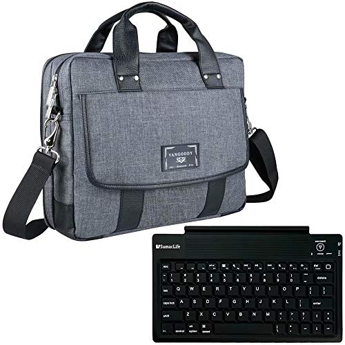 13.3 to 14 Inch Laptop Shoulder Bag with Wireless Keyboard Fit for Lenovo ThinkPad A485, E470, E480, E485, E490, E490s, E495, L470, L480, L490, T480, T480s, T490, T490s, T495, T495s, X1 Carbon (Dell Latitude E7450 Vs Lenovo Thinkpad T450s)