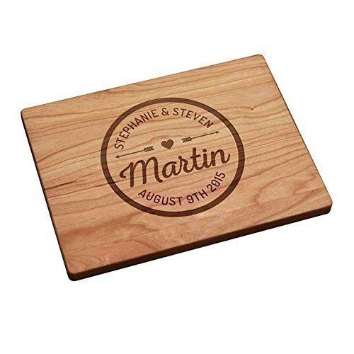 Personalized Cutting Board - Love Arrows Circle Design