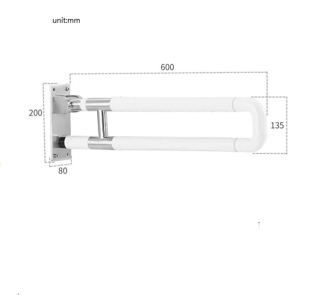 バスルーム手すりナイロンステンレススチールダブルポール折りたたみUpturningホワイト ( 設計 : C , サイズ さいず : 60 cm 60 cm ) B07CP2FTJB 60 cm 60 cm|C C 60 cm 60 cm