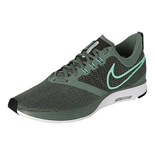 NIKE Men's Zoom Strike Running Shoes, Clay Green/Emerald Rise, 11 D(M) US ()