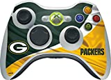 Skinit NFL Green Bay Packers Xbox 360 Wireless Controller Skin - Green Bay Packers Design - Ultra Thin, Lightweight Vinyl Decal Protection