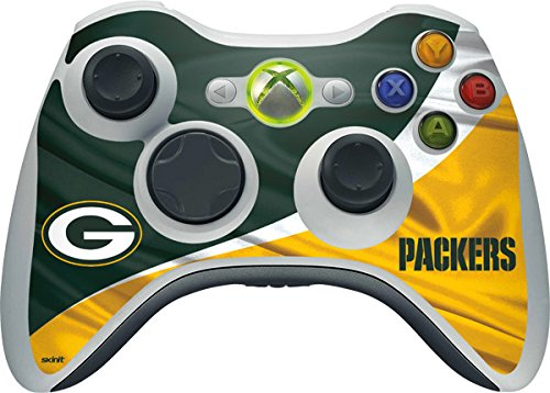 Skinit NFL Green Bay Packers Xbox 360 Wireless Controller Skin - Green Bay Packers Design - Ultra Thin, Lightweight Vinyl Decal Protection (Xbox 360 Official Nfl)