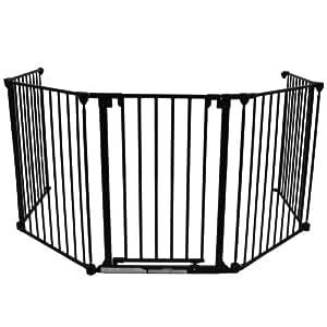 Baby Vivo 4260196241021 - Barrera de seguridad infantil (5 paneles con puerta)