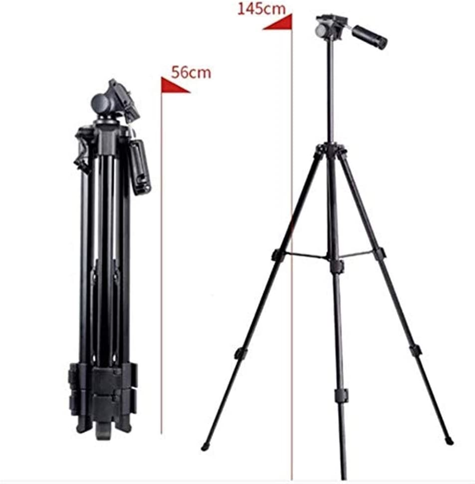 SECPTJ4 Camera Tripod Portable Camera Tripod Professional Travel Multifunctional Lightweight Tripod Set with Phone Clip Handle for SLR Camera and Video Recorder Brackets Camera Stand