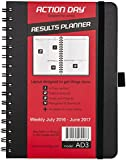 Action Day Planner 2016 - 2017 Academic Calendar : Daily Weekly Monthly Yearly Organizer & Goal Journal - Designed to Set Goals & Get Things Done ( 6 x 8 / Wire-Bound / Black )