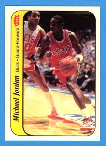 Michael Jordan 1986-87 Fleer Sticker Basketball Rookie Reprint Card (Bulls)