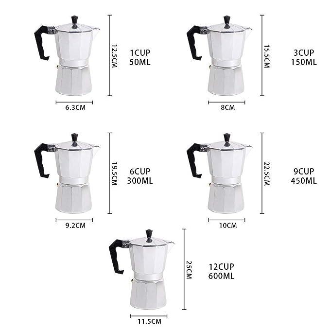 Amazon.com: Cafetera italiana XGZ italiana Espresso Cafetera ...