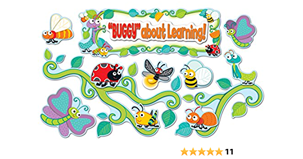 Buggy For Bugs Bulletin Board Set Books Office Products Amazon Com