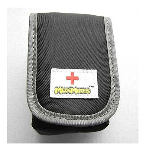 Black ASTHMA INHALER CASE Auvi-Q Belt Clip Carabiner Emergency Allergy Attack (Generic Inhaler)