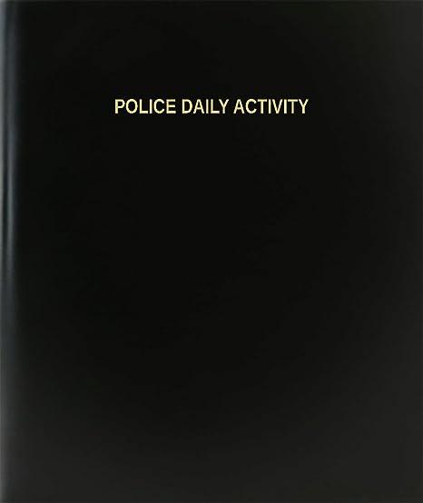 amazon com bookfactory police daily activity log book journal