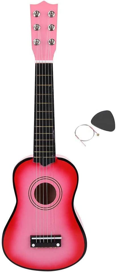 """New 21/"""" Inch Wood Children Kids Beginners Acoustic Guitar w// Pick Red"""