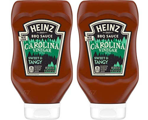 Heinz BBQ Sauce - Carolina - Vinegar Style Tangy - Net Wt. 18.6 OZ (527 g) Per Bottle - Pack of 2 Bottles