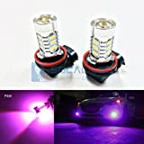 SOCAL-LED 2x H11 H8 LED Fog Light Bulb 15W SMD 5730 12V High Power Bright DRL Bulbs, Pink