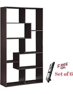 Amazon Com Magshion Modern Wood Bookcase Storage Shelving Stand