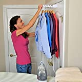 Generic O-8-O-2525-O rage Cl Laundry Storage undry S Hook Clothing Clothin Over-The-Door Hanger White r Rack Clothes 2pc er Whit Holder Rack NV_1008002525-TYQFUS32
