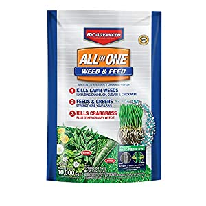 BioAdvanced 100532514 Weed & Feed Crabgrass Killer Science-Based Solutions Lawn Fertilizer, 24-Pounds, White