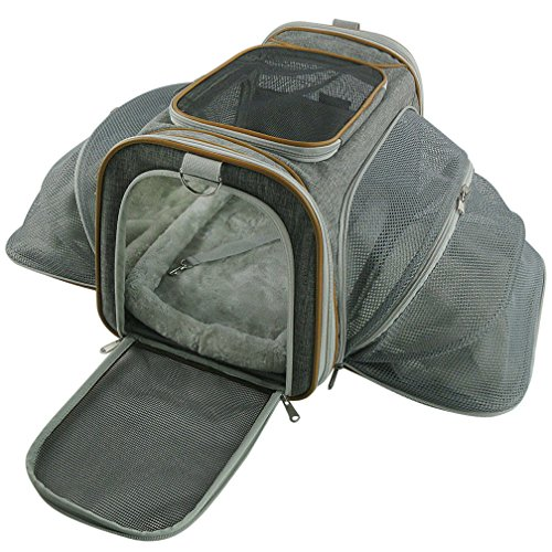 Double Expandable Airline Approved Pet Carrier by Mr. Peanut's, 18LX10.4WX11