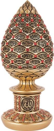 99 Names of Allah On Acorn (White with Red Crystals): Amazon