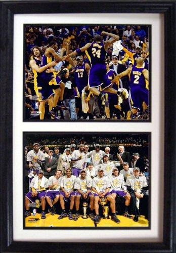 Encore Select 122-16 NBA Los Angeles Lakers Double Framed Sports Memorabilia, 12-Inch by 18-Inch
