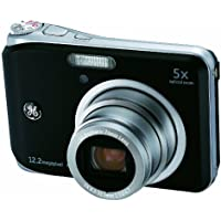 GE A1250-BK 12MP Digital Camera with 5X Optical Zoom and 2.5 Inch LCD with Auto Brightness - Black Review Review Image
