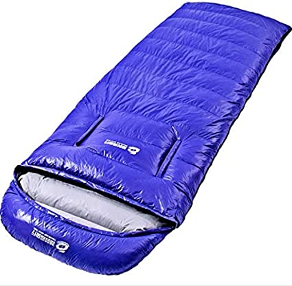 Color : Blue OUTDO Ultra Light Envelope Duck Down Sleeping Bag Waterproof Camping Outdoor Indoor For Spring Summer Autumn