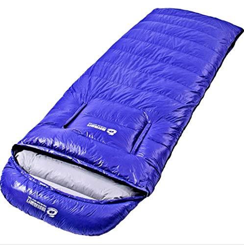 寝袋屋外秋と冬の成人肥厚封筒タイプマルチスタンダードマルチカラーホワイトアヒルダウン2キロ (Color : Red) B07P9NL6WY ブルー  ブルー