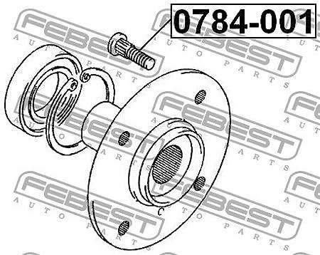 9S9B912012 Lug Nut 09119-12012 0784-001 Genuine Febest Wheel Bolt