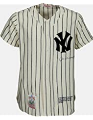 Joe DiMaggio Signed NY Yankees Pinstripe Jersey, Cooperstown Collection. PSA