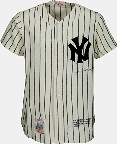 Cooperstown Collection Pin (Joe DiMaggio Signed NY Yankees Pinstripe Jersey, Cooperstown Collection. PSA)