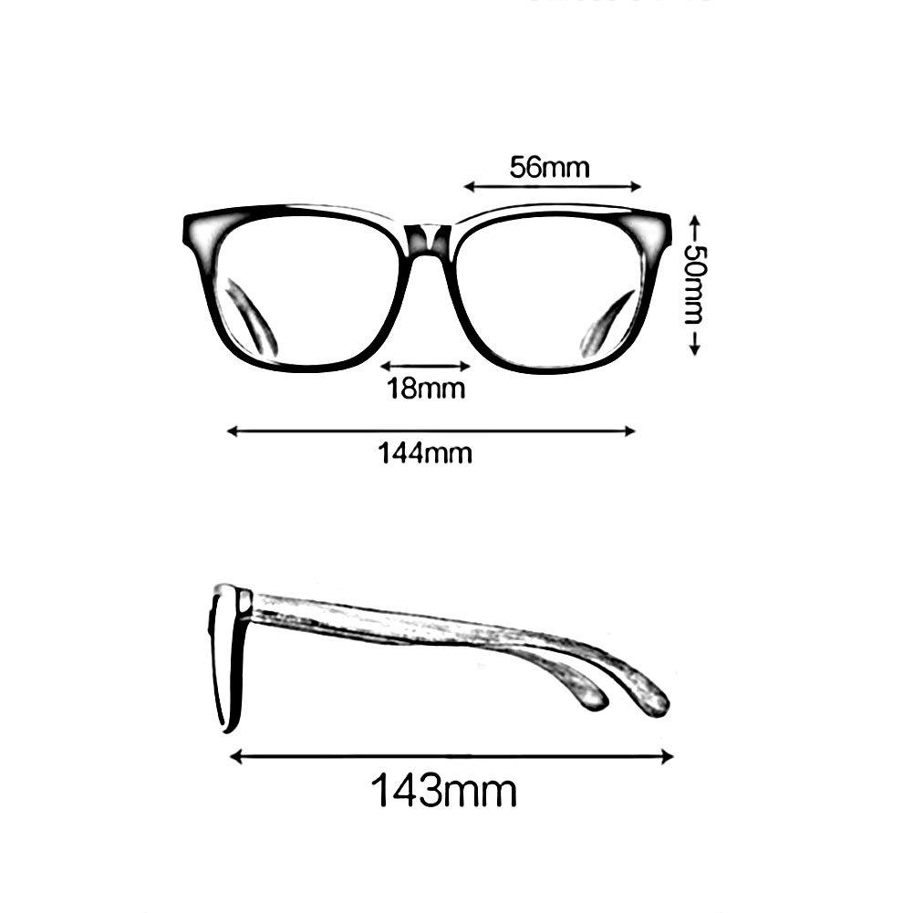 SUNNY Gafas De Y Marco Seguridad De Madera Moda Vintage Espejo Plano ...