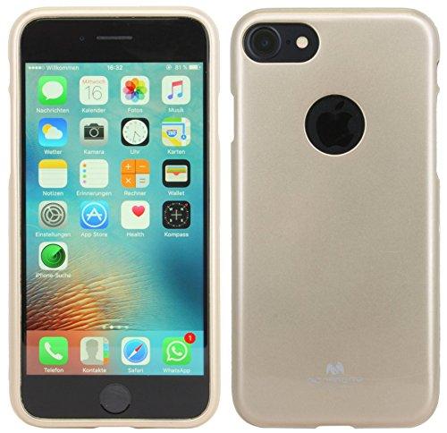 Iphone 7 // Silikon Hülle Schutz Cover Case Etui TPU Bumper Zubehör Schale in GOLD @ Energmix