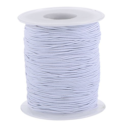 tretch Thread Beading Cord Fabric Crafting String, 0.8 mm, White (100 Meters) (White Beading Thread)